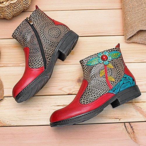 Boots Design Chaussures Ville Cuir 2017 Talon A Hiver Bottes en Printemps Bottines Socofy de Femme Original Haut x84ZqF