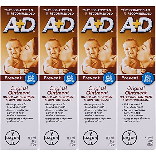 A D Original Diaper Rash Ointment  Baby Skin Protectant With Lanolin And Petrolatum  Seals Out Wetness  Helps Prevent Diaper Rash  4 Ounce Tube  Pack Of 4