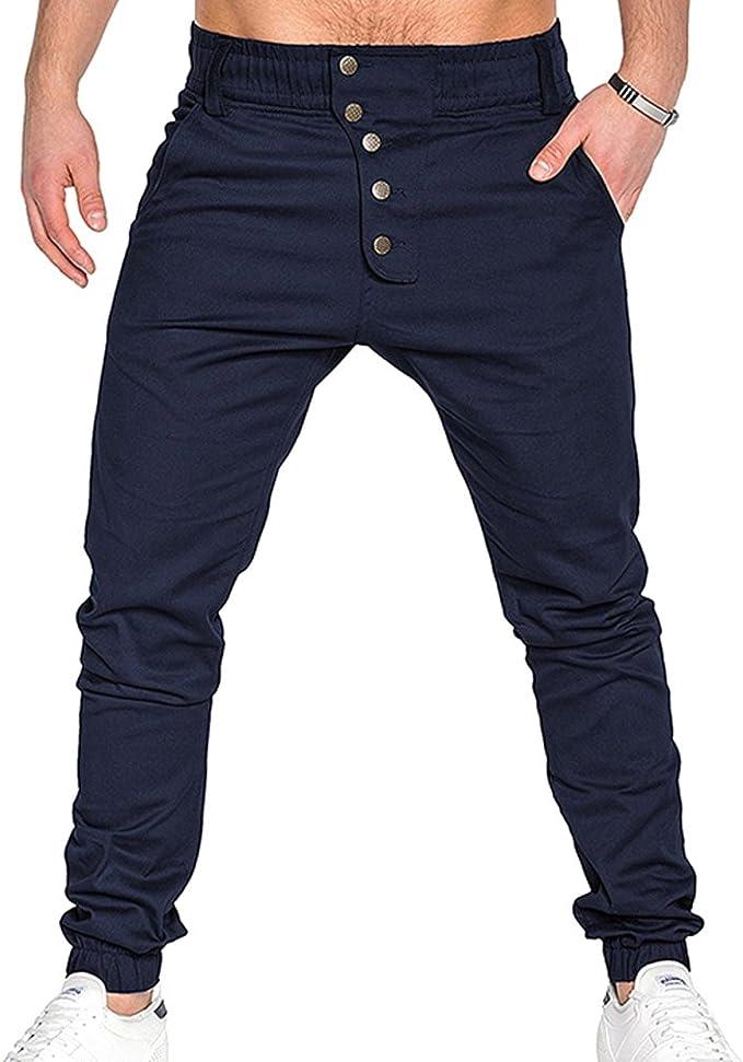 Juleya Pantalones de harén de los Hombres Pantalones Harén con ...