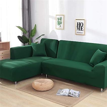 Amazon.com: 2 Pieces Covers for Corner Sofa Living Room Universal ...