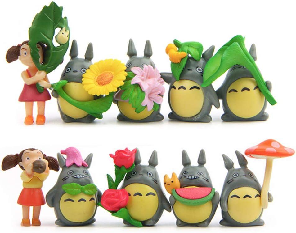 10 Pcs/Set My Neighbor T Mini Figure DIY Micro Landscape Garden Resin Decoration (10 Pcs T)