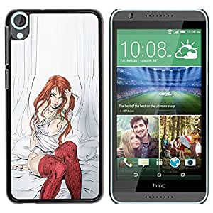 LASTONE PHONE CASE / Slim Protector Hard Shell Cover Case for HTC Desire 820 / Rehear Girl Sexy Babe by ruishername