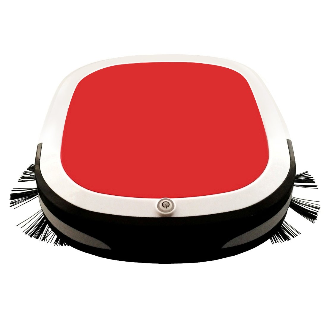 Robotic Vacuum Cleaner with Sweeping/ Suction /Wiping for Floor Cleaning, Household Intelligent Robot Cleaner for Hair/Dirt/Daily Dust Removal with 2200mAh Battery Capacity, Red