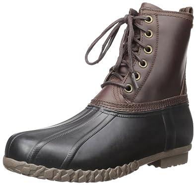 G.H. Bass & Co. Men's Dixon Rain Boot, Dark Brown/Black, ...