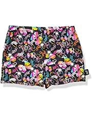 Jojo Siwa By Danskin Girls Big Colorful Sparkle Gymnastics Short, Bow Party Print/black-91000