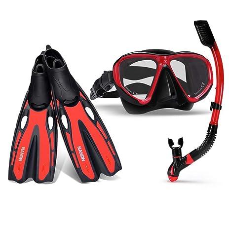 FELICIGG Set da 3 Pezzi Scuba Snorkel Set Pinne da