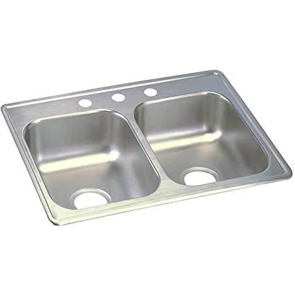 Ordinaire Dayton D225193 Equal Double Bowl Top Mount Stainless Steel Sink