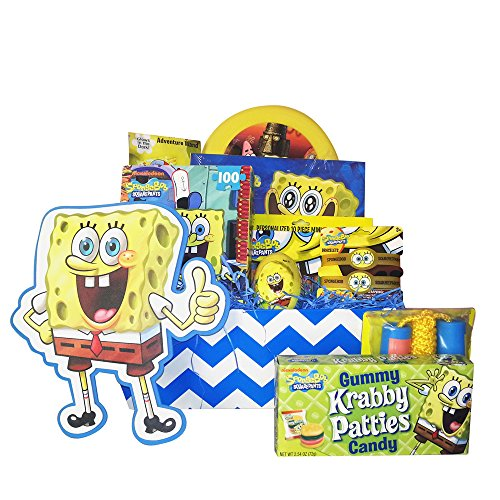 Spongebob Valentine Gift Baskets for Kids Full of Surprises for Children 3 to 8 Years Old