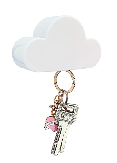 Amazon.com: Novedad color blanco nube forma llavero ...