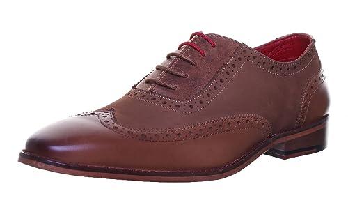 Justin Reece Pedro Mens Leather Matt Shoes (9 UK, Tan RK1)