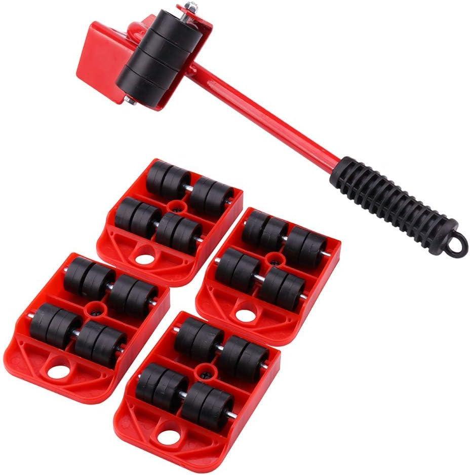 Muebles Pesada Shifter Levantador De Ruedas En Movimiento Equipo Deslizador Mover El Retiro F/ácil Mover Rojo