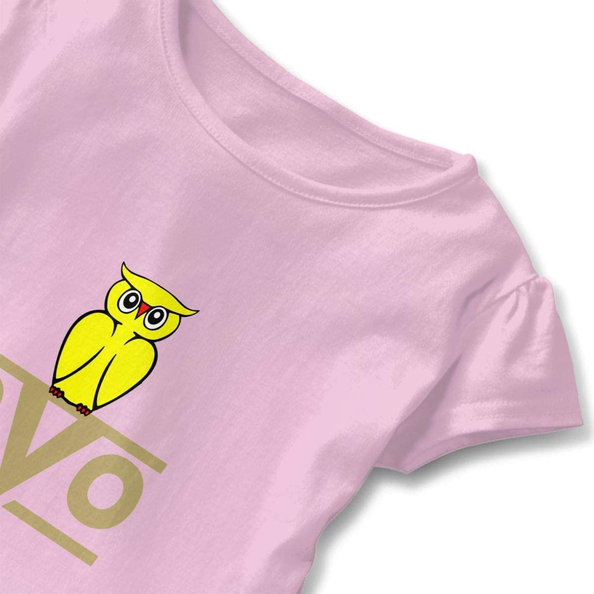 Toddler Girls Ruffle T-Shirt OVO Owl Short Sleeve 2-6T