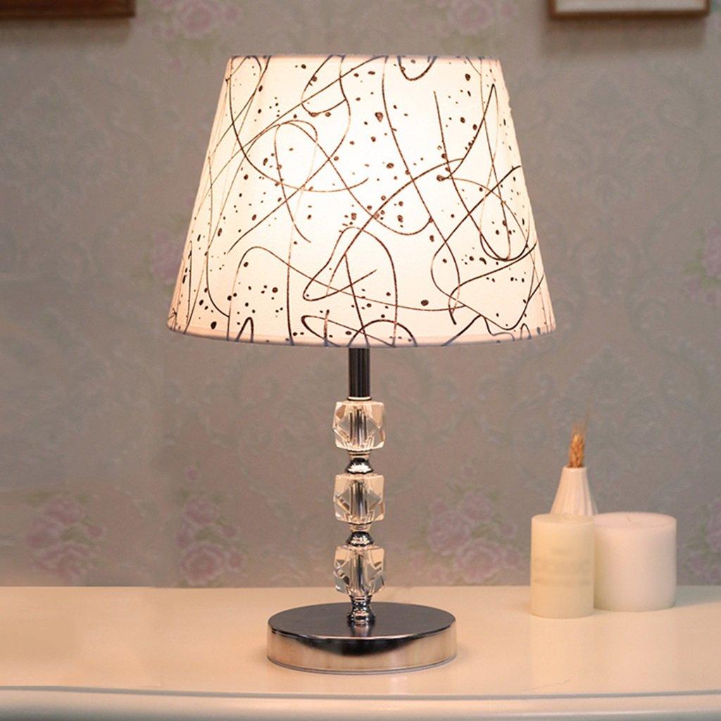 Bao Xing Bei Firm Lampada da Tavolo Luce di Cristallo Lampada da Comodino Camera da Letto Lampada da Tavolo di apprendimento a casa lampade Calde e Creative A+ (Colore   D)