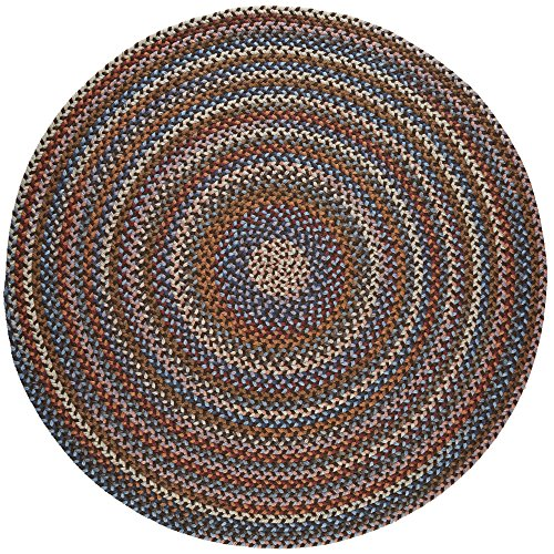 Tribeca Textured Braided Rug 100% Wool Rug Thick & Soft Brown Casual Carpet, 8′ Round Review