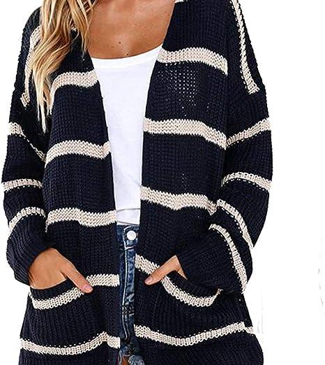 FWJ-clothes Suéter Cardigan de Punto de otoño para Mujer ...