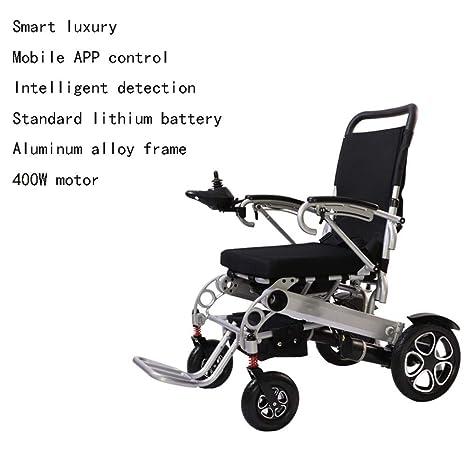 Silla de ruedas eléctrica plegable, ligera e inteligente ...