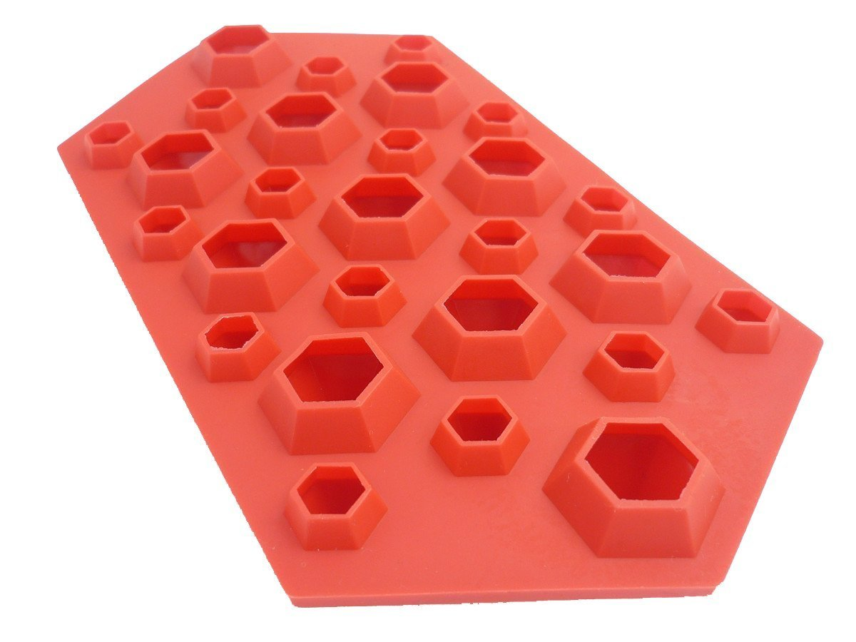 Selecto Bake 1 X 3D Diamonds Ice Cube Chocolate Tray Mould Silicone Party Maker