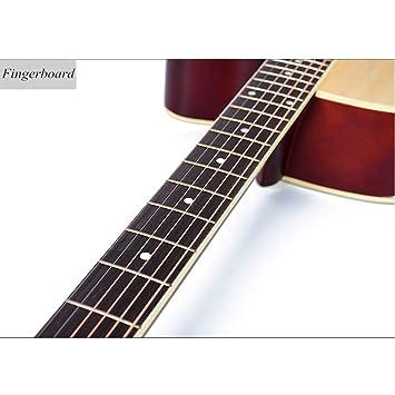 Guitarra 41 \Elm cerrado perilla borde de color, adecuado para ...