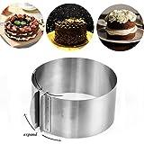 Yiteng ケーキムース型 16cm~30cmまで調整可能 ケーキ焼きリング セルクル 調理 丸型 お菓子作りの型