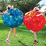 Inflatable 36'' Wearable Buddy Bumper Zorb Balls Heavy Duty Durable PVC Viny Bubble Soccer Outdoor Game (2-Pack,Blue&Red)) …
