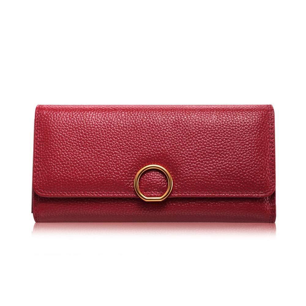 F Women's Wallet Women's Wallet Leather Lady Wallet Large Lady Purse Wallet 20  10  3cm (color   C)