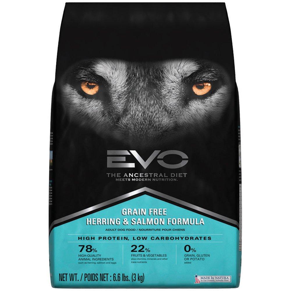 EVO Grain Free Herring & Salmon Formula Adult Dry Dog Food 6.6 Pounds