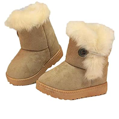 458cfc77ce4 Amiley Toddler Little Big Kids Boy Girl Cozy Warm Snow Boots Button Bootie