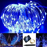 Solarmks TS-1150 1800mAH 150 LED Copper Wire Starry String Lights, Blue by Solarmks