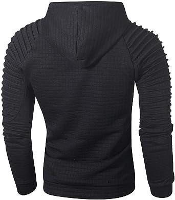 Muranba Mens Long Sleeve Hooded Sweatshirt Top Outwear