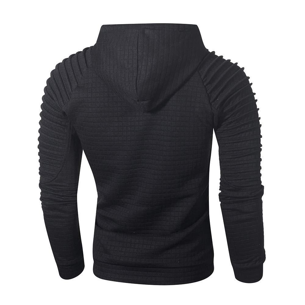 Caopixx Sweatshirt for Men 2019 Mens Hooded Pullover Jacket Coat Outwear