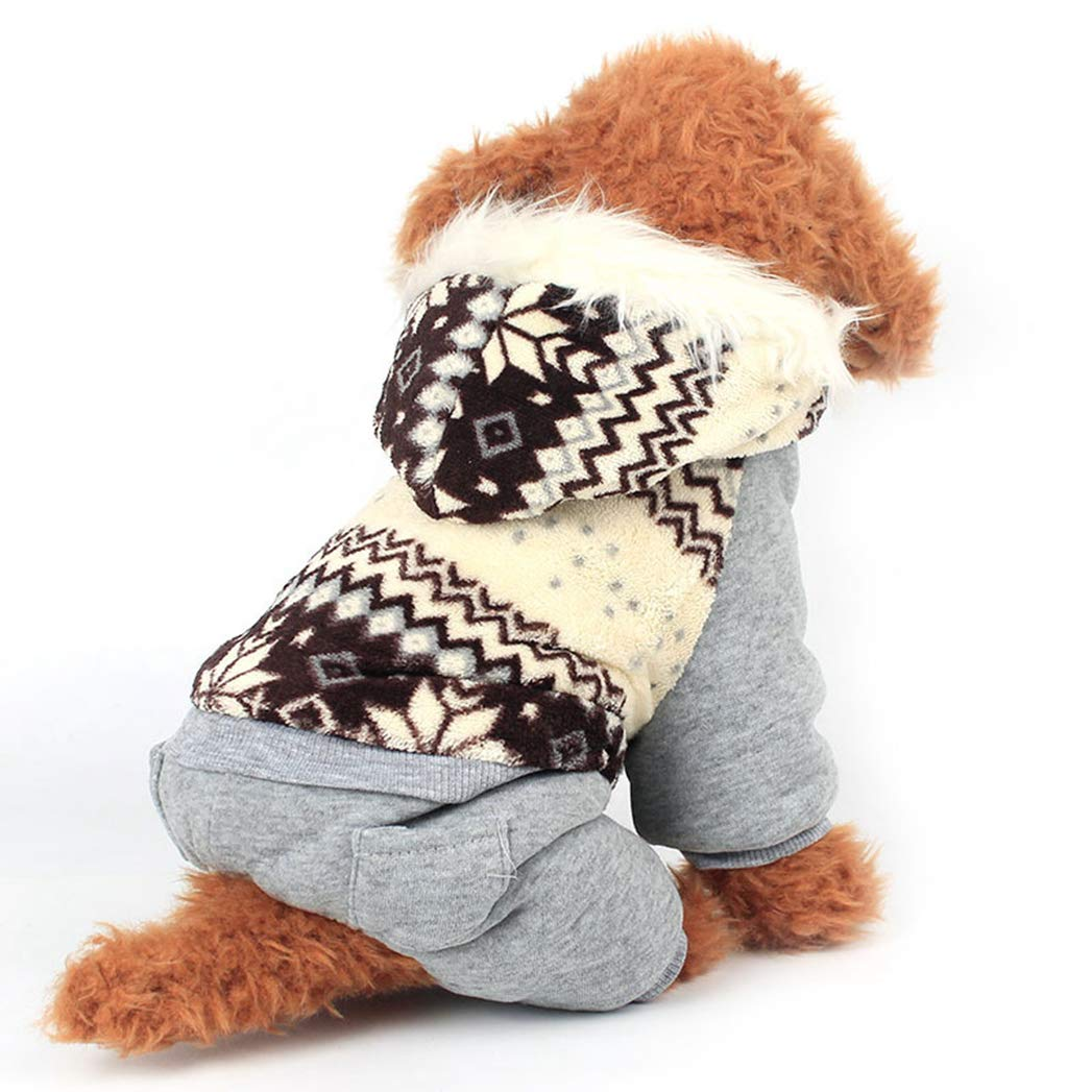 BROWN XL BROWN XL SENERY Winter Pet Dog Clothing Coat,Dog Plush Clothes Hoodie Cotton Clothing Puppy Keep Warm Jacket