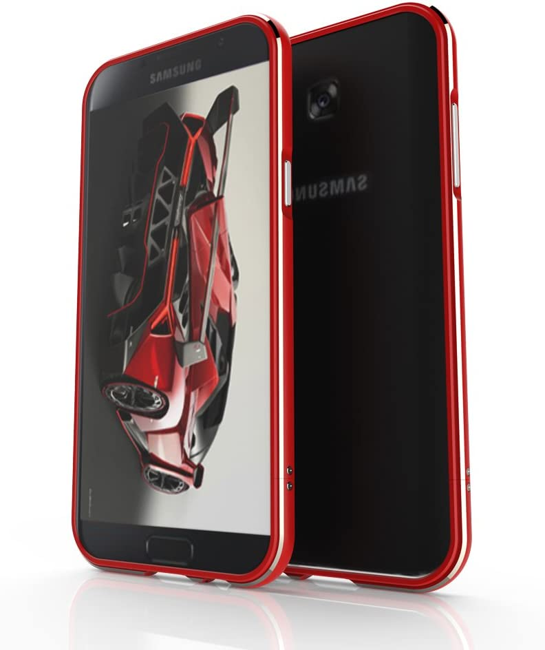 Galaxy A7(2017) Funda , SHANGRUN Bumper Metalico Aluminio Carcasa ...