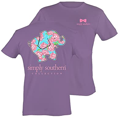 03fd721eaa3c Image Unavailable. Image not available for. Color  Simply Southern Women s  Preppy Elephant ...