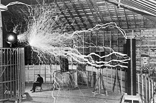 - NIKOLA TESLA LAB GLOSSY POSTER PICTURE PHOTO electicity electric coil cool (24