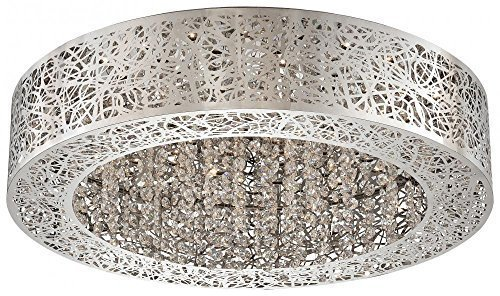 - George Kovacs P981-077-L, Hidden Gems Flush Mount Ceiling Lighting, 1 Light LED, Chrome by George Kovacs