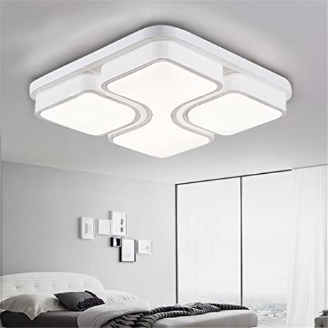 Plafonnier Led Modern Ceiling Light Luminaire Lamparas De Techo Light Fixtures Ceiling Lights Square Acrylic Lamps Living Room,White-68×68cm-Dimming ...