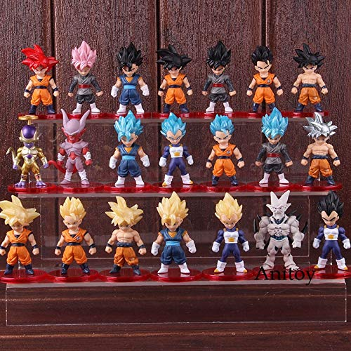 (Action Figure Dragon Ball Goku Son Goku Vegeta Frieza Vegetto PVC Anime Figure Collectible Model Toy 21Pcs/Set -Complete Series Merchandise - Legends Gifts Movies Comic Toys)