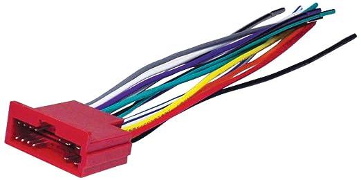 amazon com scosche ka01b wire harness to connect an aftermarket Kia Radio Wiring Harness scosche ka01b wire harness to connect an aftermarket stereo receiver for select 2000 up kia 2006 kia spectra radio wiring harness