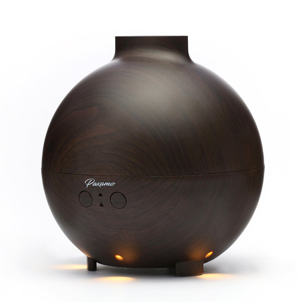 600ml Ultrasonic Oil Diffuser, Paxamo High Capacity Globe Diffuser, Premium Therapy Air Freshener, Working Overnight for Large Room