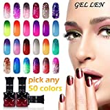 Gellen Pick Any 50 Colors Temperature Color Changing Gel Nail Polish - UV LED Chameleon Mood Nail Gel Set