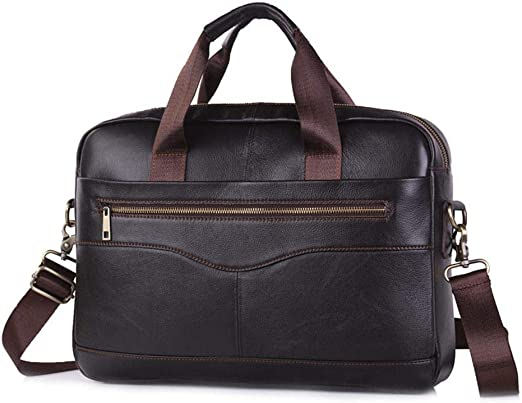Genuine Leather Shoulder Bag Mens Handbag Cowhide Messenger Bag Briefcase G12