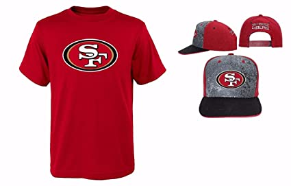 Outerstuff San Francisco 49ers NFL Youth Size Performance T-shirt With Cap  Set (Youth ab11c11a3