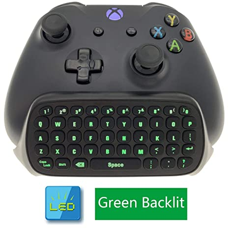 Whiteoak Xbox One S Chatpad Mini Backlit Gaming Keyboard Wireless Chat Message Keypad With Audio Headset Jack For Xbox One Elite Slim Game
