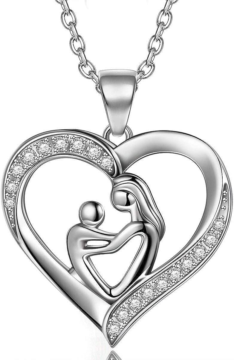 TOJEAN Amor Maternal Collares Mujer, Joyeria Mujer Plata de Ley 925, Regalos Mujer