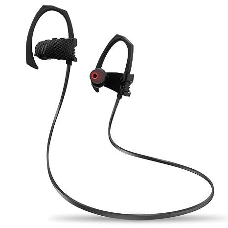 eterna Eye Auriculares Bluetooth 4.1 [Certificación Anti-Sudor IPX4] Cancelación de Ruido Cascos