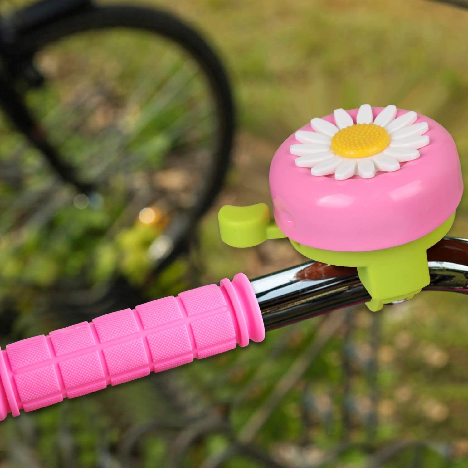 Bicycle Handlebar Bike Bell I Love You More on Hot Pink