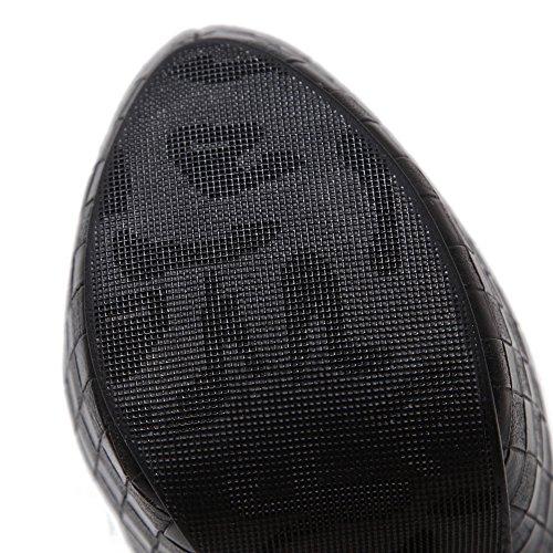 Inconnu 1To9 Sandales Compensées Femme Noir, 38.5 EU, MMSG00201