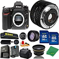 Great Value Bundle for D750 DSLR – 50MM 1.8D + 2PCS 32GB Memory + Wide Angle + Telephoto Lens + Case