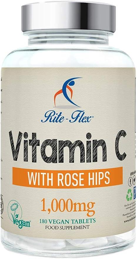 Rite-flex, vitamina c 1000 mg con rosa canina
