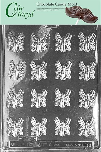 Cybrtrayd Life of the Party H061 Halloweeen Bug Bite Size Spiders Chocolate Candy Mold in Sealed Protective Poly Bag Imprinted with Copyrighted Cybrtrayd Molding Instructions
